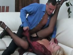 Blonde milf seduces the salesman