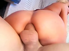 Riley Evans loves having her asshole stuffed with hard sausage