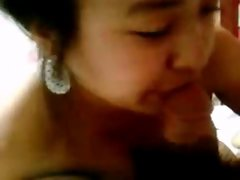 Korean teen cum on the mouth