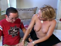 Milf likes getting fucked by geeks