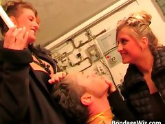 Twin sisters play bondage with this man part2