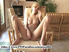 Alexa teenage nude blond young woman on a chair